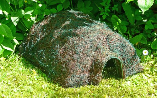 the Habitat Hedgehog Home is designed to be an economic natural home and safe sanctuary for hedgehogs. The house is made from rust-resistant steel that's finished with natural materials to make it an attractive home for a curious hedgehog seeking shelter.