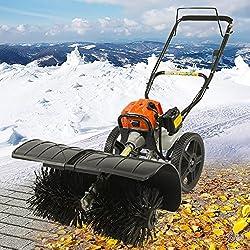 Benzin Kehrmaschine 52cc Schneefräse Schneeschieber Motorbesen Schneepflug