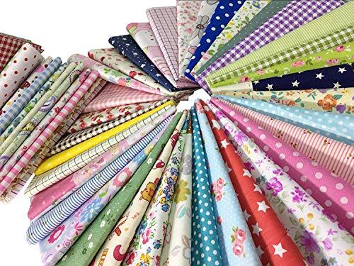 50Pcs-Baumwollstoff-Patchwork-Stoffe-DIY-Gewebe-Quadrate-Baumwolltuch-Stoffpaket-zum-Nhen-mit-vielfltigem-Muster-30x30cm