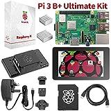 """Raspberry Pi 3 B+ dernier Kit pour commencer - paquet complet """"Toucher et enseigner"""" c/carte mère Pi3 B+, écran tactile de 7"""", 32GB PRÉCHARGÉ NOOBS, 2 disipadores et câbles HDMI et d'alimentation"""