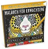 Malbuch Fur Erwachsene Tierreich Bei Nacht NACHT EDITION