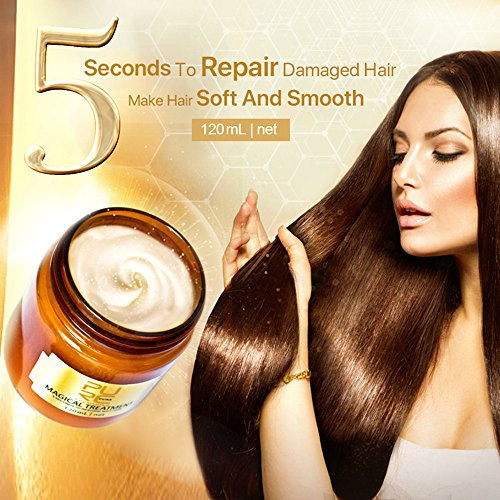 A Privilege Haarmaske, Hair Treatment, Conditioner Haarkur, Keratin Haarkuren strapaziertes und trockenes Haare, Hair Mask für gefärbte Haarpflege & Haarglättung, 120 ml (Gold)