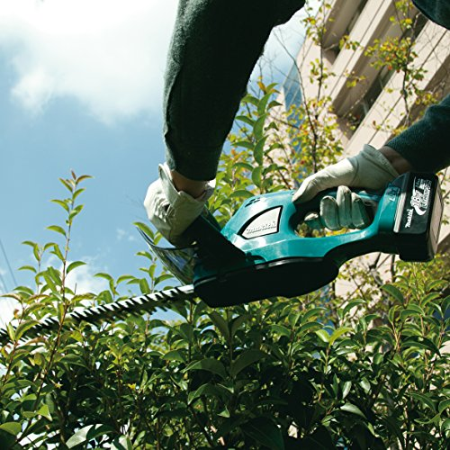 The Makita DUH523Z Cordless LXT Lithium-Ion Hedge Trimmer is a an excellent tool from a reputable manufacturer. It's one trimmer that is capable of tackling heavy duty jobs, be it cutting woody, thick or tall plants.