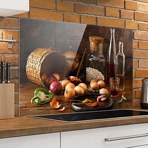 Bilderwelten paraschizzi in vetro fragranze di cottura orizzontale 2 3 paraschizzi cucina - Pannello paraschizzi cucina ...