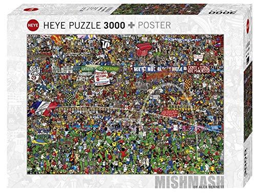 Heye Puzzle Bennett Storia del Calcio, 3000 Pezzi, 116.5 x 83.5 cm VD-29205-11