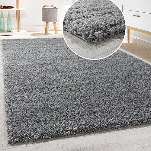 DIVA Shaggy - Tappeto A Pelo Lungo in Diversi Colori E Misure, Dimensione:140x200 cm, Colore:Grau