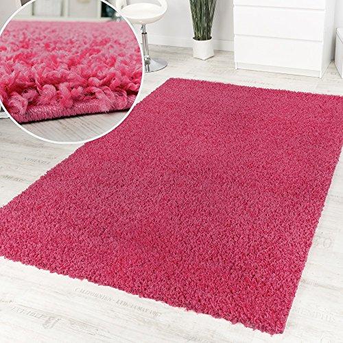 Tappeto Shaggy Pink Pelo Alto Pelo Lungo Tinta Unita Pink Affare Ottimo Prezzo, Dimensione:120x160...