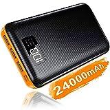 KEDRON Powerbank 24000mAh Externer Akku mit USB C&Micro 2 Eingänge und 3 Ausgänge Power Bank Handy für Smartphones, Tablett