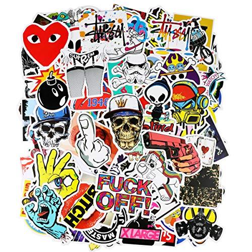 PAMIYO 200 Pezzi DIY Adesivi Originali Vari Brand Creativi impermeabile Muro Stickers per PC...