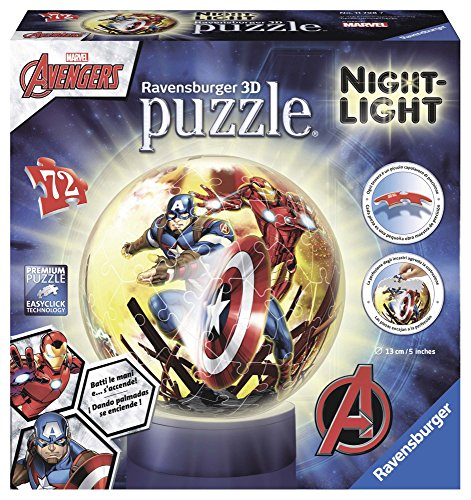 Ravensburger Italy Marvel Avengers Puzzle 3D Lampada Notturna, 72 Pezzi, 11798