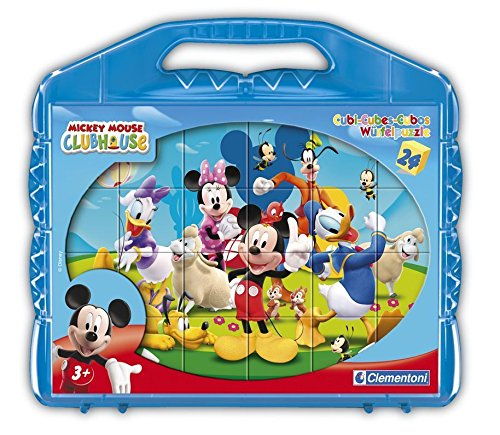 Clementoni - 42495 - Puzzle Cubi - Mickey Mounse Club House - 24 Cubi - Disney