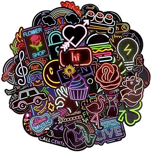 Afufu Adesivi Neon 50-PCS Stickers Set di insegna Luminosa, Illuminazione LED, Pub, segnaletica,...