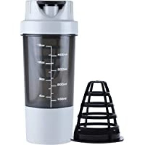 HAANS Shakeit Protein Shaker Bottle, 500ml (Color-Grey)