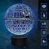 3D Illusion Light, 7 Models Touch Control Illusion ottico LED Night Light con cavo di ricarica per Home Decor, Kids