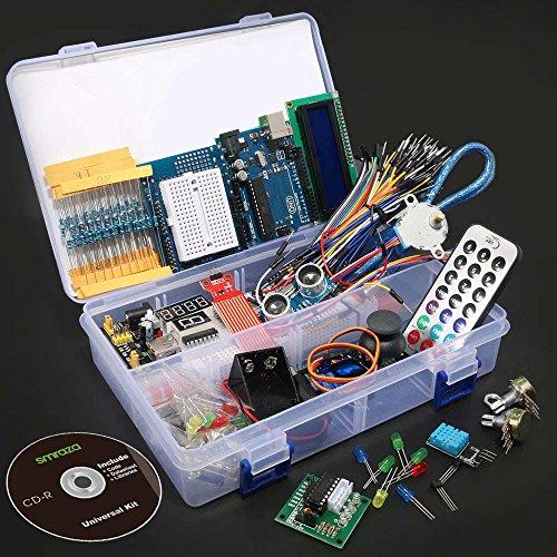 617WETmjK4L - Smraza Conjunto Medio a UNO para Arduino con Tutorial y Conjunto de UNO R3,Relé de 5V,Modulo de Fuente de Alimentación,Servomotor, LCD1602 para Arduino Mega 2560 Nano UNO R3