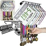 Medallero colgador de medallas y dorsales (100% Acero) - Fabricado en España (Negro)