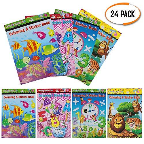 24 Assortiti Libro Da Colorare E Etichetta Per Bambini - Mini Attività Artistica - Festa Di...