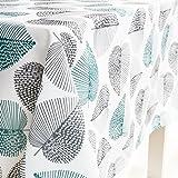 GWELL Tischdecke Eckig Abwaschbar Oxford Tischtuch Pflegeleicht Schmutzabweisend Farbe & Größe wählbar Muster-C 140*240cm