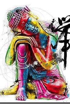Buda, Buddha – imagen vidrio acrilico, Patrice Murciano, 30 cm x 30 cm , impresión directamente en vidrio, Plexi Collection, Art-Print , Pop-Art, cuadro listo para colgar