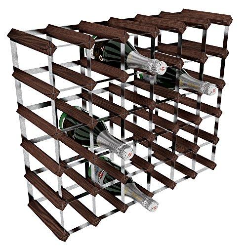 RTA, Porta-Bottiglie di Vino, 36 Posizioni, Marrone (Mahogany), legno