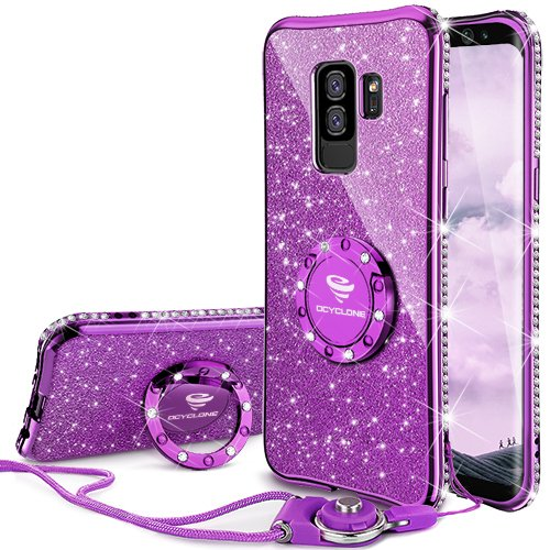 bbbb473acbf Comprar OCYCLONE Fundas Samsung Galaxy S9 Plus Púrpura,Purpurina ...