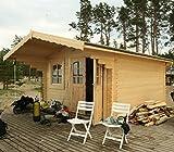 Casita de madera para jardín en madera de abeto, 44mm - 19,1m2, 1-ITALFROM42