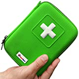 UK First Aid Kit & Emergency Kit for Home, Car, Travel, Camping, Workplace, Office, Survival & Outdoor - 100 Pieces Mini First Aid Kit with Emergency Blanket, Sterile Eye Pads, CPR Mask & Scissors