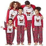 Natale Pigiami Famiglia Famiglia Matching Pigiami Due Pezzi Famiglia Montato Famiglia coordinazione Indumenti Uomo Donne Bambino Ragazzi Ragazze Babbo Natale Camicetta Pantaloni Vestiti per la casa