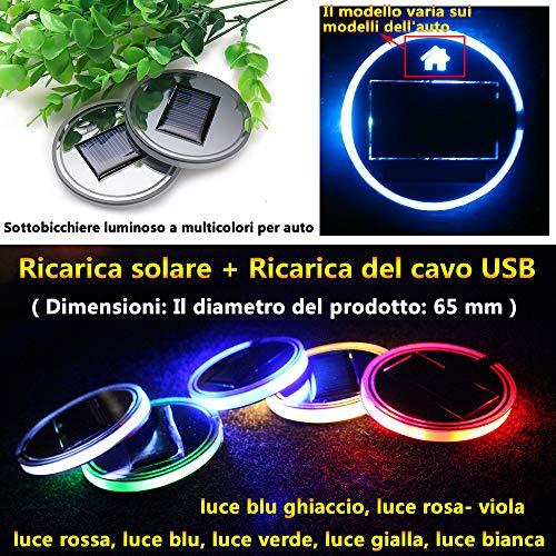(1 pezzo) Energia solare Luce d'ambiente Accessori per auto Decorazioni interni Illuminazione Luce...
