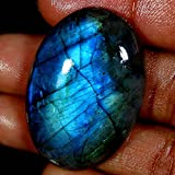 RADHEY KRISHNA GEMS 80.20CTS.Naturale incredibile. Blu flash Spectrolite labradorite ovale Cab gemma