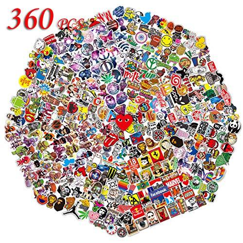 Q-Window Kit Adesivi (360 Pezzi) Vinyl Kawaii Decal Stickers per Laptop, Bottiglie d'Acqua, Bagagli,...