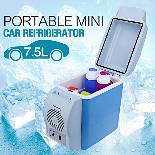 Vellex Mini Refrigerator Portable Fridge 12V 7.5L Car Travel Fridge ABS Multi-Function Freezer Warmer Cooling & Warming Refrigerator