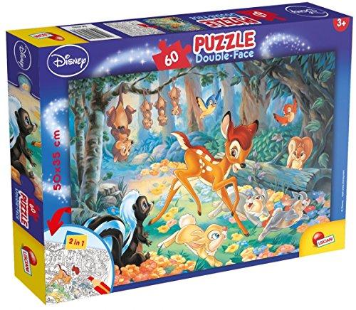 Lisciani Giochi 47932 - Bambi Puzzle Doppia Faccia Plus, 60 Pezzi