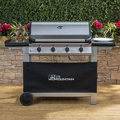 The Fire Mountain Everest 4 Burner Gas Barbecue is the new talk of town among barbecuing enthusiasts and has proved an excellent value at its price. You get 4 cast iron burners which we think is perfect for most families, plus a grill plate and griddle, allowing you to cook a variety of foods with this gas barbecue.