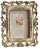 Giftgarden 13x18cm Photo Frame Classic Flower Craft Frame for Home Gift
