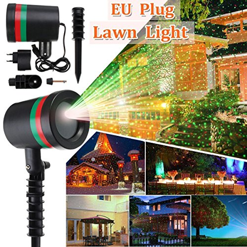 wowgadgets AST Works Star Light Fairy Laser Projector Outdoor Garden Lawn Landscape LED Lamp EU Plug (Multicolour)