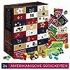 Amerikanische Süßigkeiten Adventskalender - mit 24 American Sweets aus den USA. Ausgefallener Adventskalender für US-Fans. Amerikanisches Geschenk Set