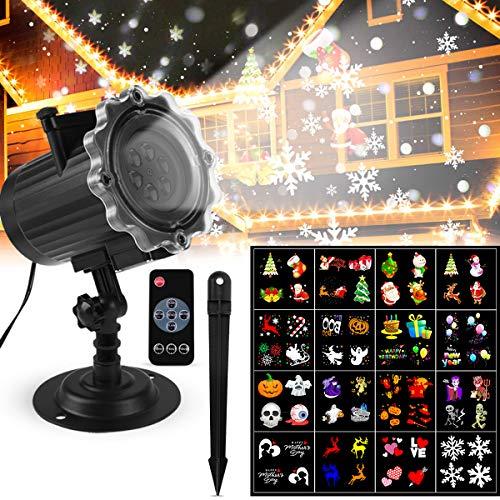 Proiettore Luci Esterno/Interno Lampada di Proiezione LED Proiettore Luci Colorate+Proiettore Luci...
