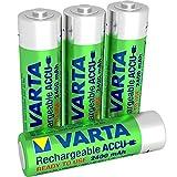 Varta Rechargeable Ready2Use Mignon Ni-Mh Akku vorgeladen (AA, 2400mAh, 4-er Pack), wiederaufladbar ohne Memory-Effekt - sofort einsatzbereit, inklusive Aufbewahrungsbox
