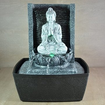 Zen'Light Fuente de Interior, Plateado, 20 x 15 x 26 cm 4
