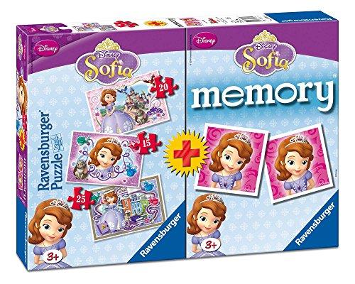 Ravensburger 07358 0 - Sofia Multipack, 3 Puzzle + 1 Memory