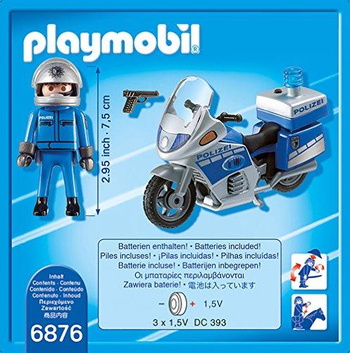 PLAYMOBIL 6876 – Motorradstreife mit LED-Blinklicht - 3