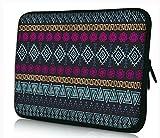 """MySleeveDesign Housse de protection en néoprène pour ordinateur portable Notebook Sac Pochette 10,2"""" / 11,6"""" - 12,1"""" / 13,3"""" / 14"""" / 15,6"""" / 17,3"""" Pouces - PLUSIEURS MODELES - Aztec Dark - 11 - 12"""
