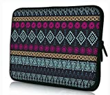 """MySleeveDesign Housse de Protection en néoprène pour Ordinateur Portable Notebook Sac Pochette 10,2"""" / 11,6"""" - 12,1"""" / 13,3"""" / 14"""" / 15,6"""" / 17,3"""" Pouces - Plusieurs MODELES - Aztec Dark - 11-12"""