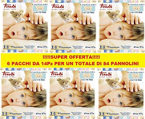 Pannolini Trudi Taglia 6 15/30 Kg (6 Pacchi da 14pz) 84pz