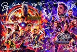 Avengers poster infinity War firmato PP da 22 Rdj, Stan Lee, Chris Pratt, tom Hiddleston, Chris Hemsworth Chris Evans, Black Panther, Spiderman, Capitan America, Iron Man 30,5 x 20,3 cm photo Gift