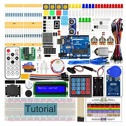 Freenove RFID Starter Kit V2.0 con R3 Bordo (Compatibile con Arduino), Guide Dettagliate di 252 Pagine, 198 Articoli, 49 Progetti, Breadboard di Saldatura Libera