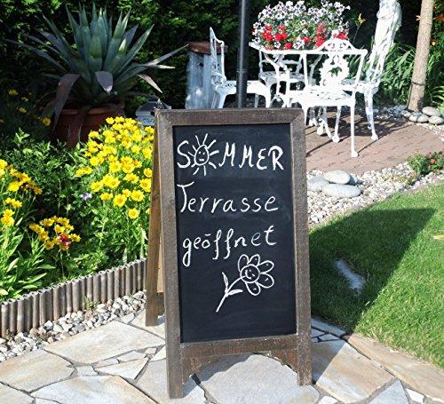Legunana Jill - Lavagna per ristoranti, stile rustico, scrivibile su entrambi i lati, gesso incluso,...