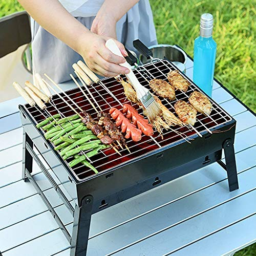 The Uten Barbecue Grill Charcoal Grill is a simple grill and a great alturnagtive to the Notebook Grill and slightly cheaper at the time of this review. What you pay for is what you get. It is not heavy and the manufacturers ensured that the folding mechanisms were fluid. There are no parts sticking out and it is easy to clean up.