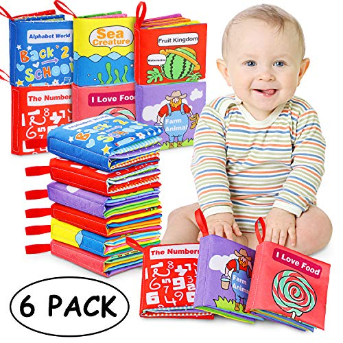 Libri di Stoffa Baby, 6 Set Il Mio Primo Abbigliamento Morbido Non Tossico Libro Giocattoli...